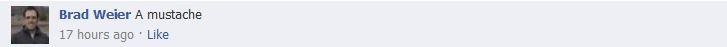 Facebook Brad W. Comment