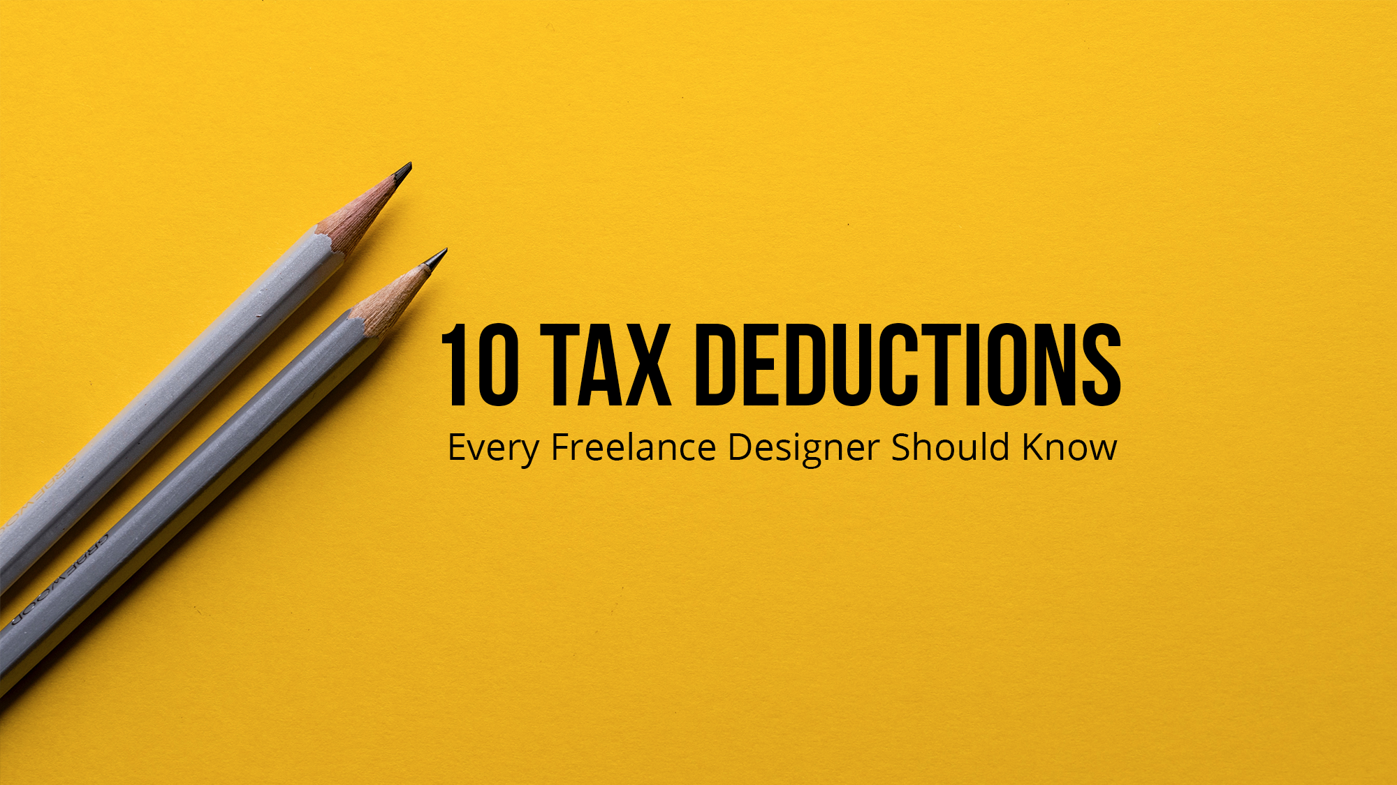 10 Tax Deductions that Every Freelance Designer Needs to Know image