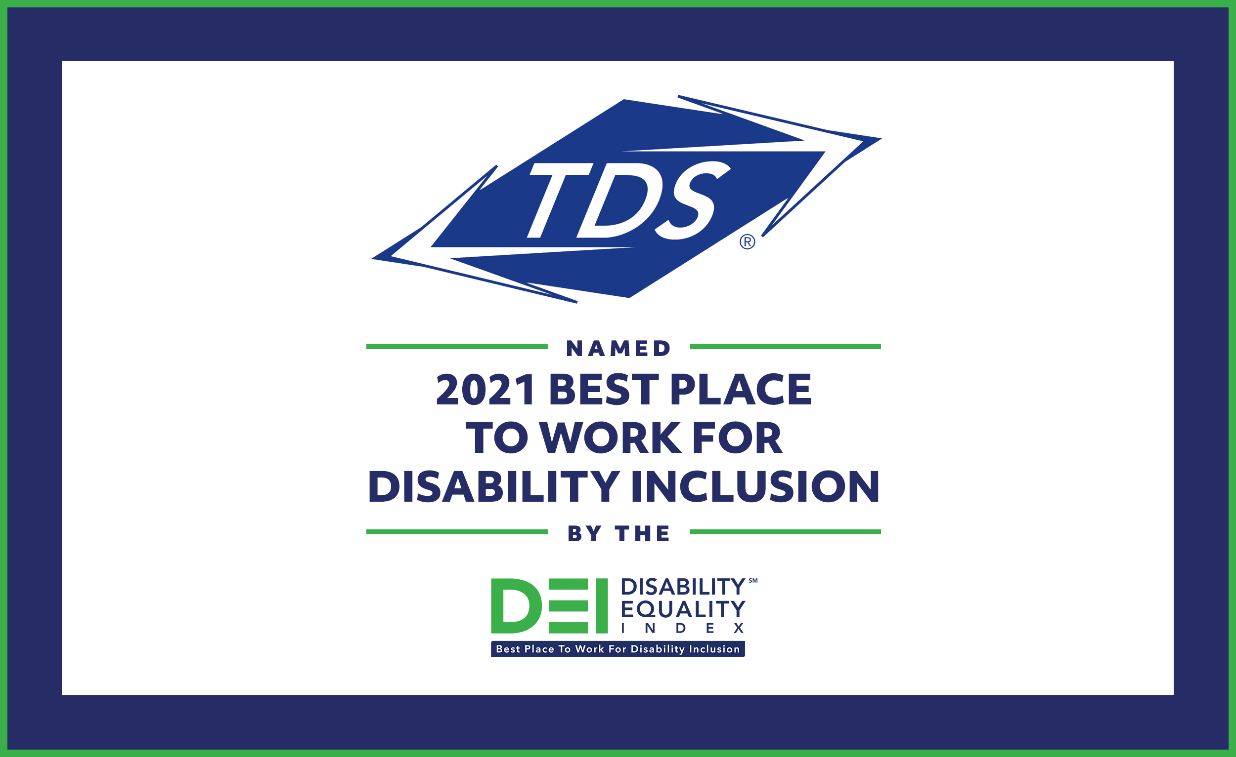 TDS named Best Place to Work for Disability Inclusion image